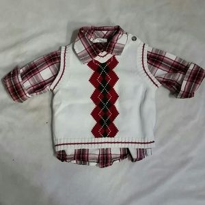 The children's place & crazy 8 Shirts & Tops - Children's place sweater vest and shirt (#63)
